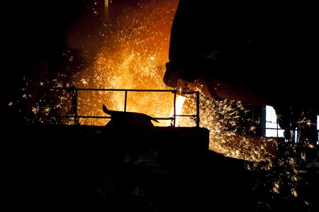 steel making: Steel splash Stock Photo