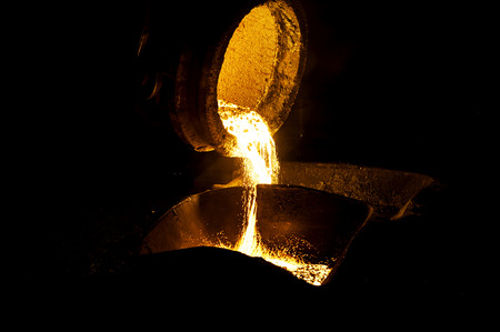 steel making: Steel splash Stock Photo