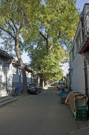 beijing: Autumn Beijing Hutong Editorial