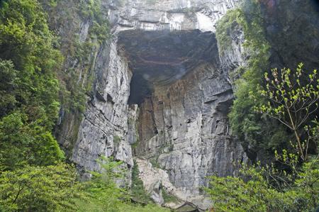 world natural heritage: Wulong nature bridge landscape