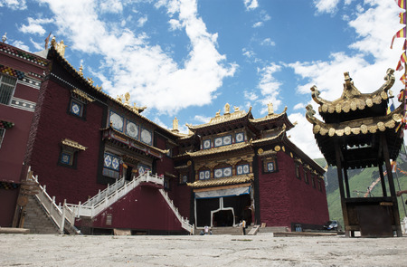 sichuan province: temple at Aba Prefecture of Sichuan province