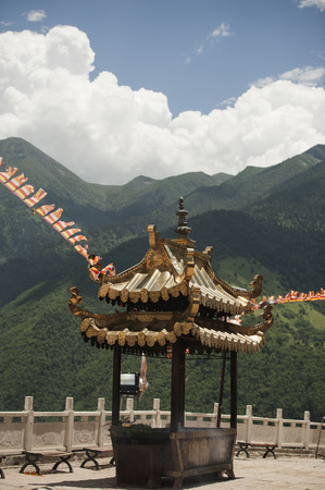sichuan province: burner at temple , Aba Prefecture of Sichuan province Stock Photo