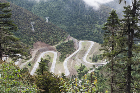 county: Highway road in Sichuan, Ganzhi County
