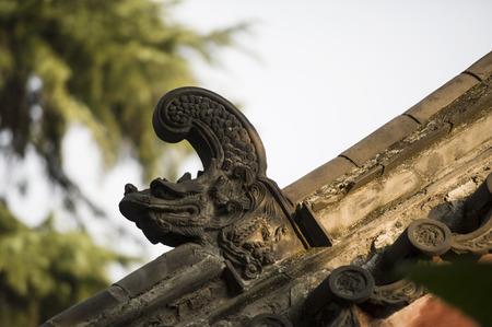 Shandong Qufu Confucius Temple eaves