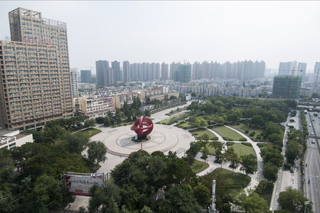 Aerial view of Hefei Peace Square