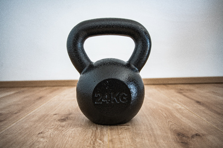 Kettlebell training with background