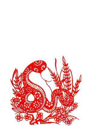 snake,Chinese zodiac animals. Stock Photo - 4776813