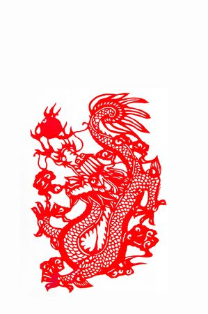 chinese new year element: Chinese-dragon,paper cutting Chinese Zodiac.These paper cutting show that Chinese Zodiac, such as rat, ox, tiger.