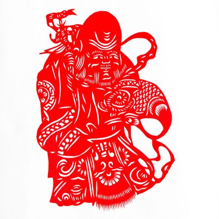 longevity: god of longevity.This is the Chinese color paper cutting, a symbol of longevity God.