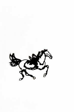 scenarios: horse,This is a Chinese paper-cut, reflecting the animal a happy life scenarios. Stock Photo