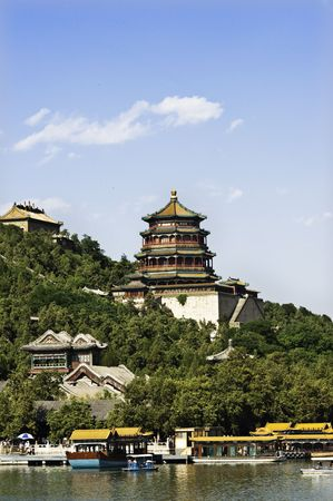 Summer Palace in Beijing, China.In 1998, UNESCO included the Summer Palace on its World Heritage List, as a masterpiece of Chinese traditional garden design.
