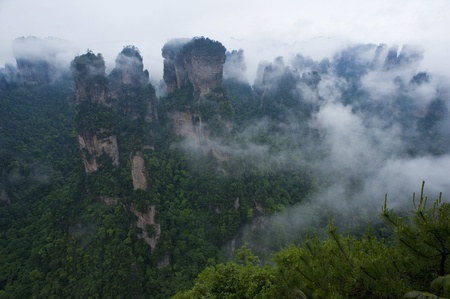 grotesque: Mysterious Zhangjiajie in South China