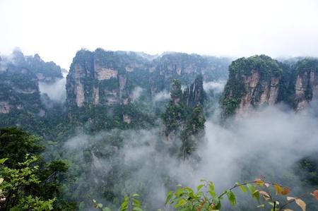 quartzite: Mysterious Zhangjiajie A World Natural Heritage in South China Stock Photo