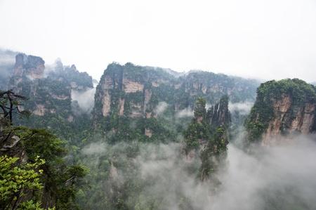 world natural heritage: Mysterious Zhangjiajie A World Natural Heritage in South China Stock Photo