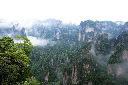 quartzite: Mysterious Zhangjiajie A World Natural Heritage in South China, Zhangjiajie is consisted of more than 3,000 quartz sandstone pillars, and many Karst caves