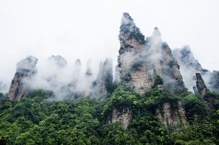 quartzite: Geology and Landscape of Zhangjiajie in South China, Zhangjiajie