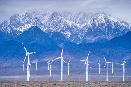 Wind power generation in Dabancheng, Xinjiang Imagens - 96186968