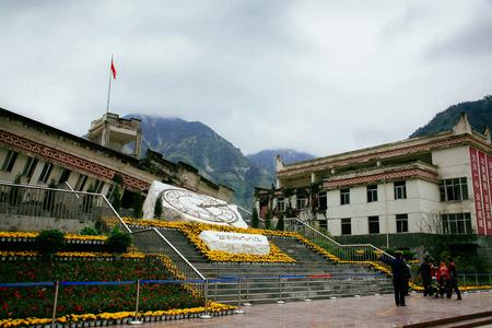 Memorial to Sichuan earthquake victims in Yingxiu, China Imagens - 98565360