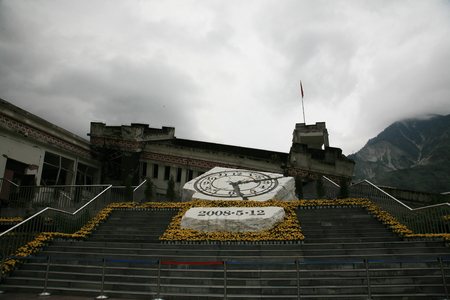 Memorial to Sichuan earthquake victims in Yingxiu, China Editorial