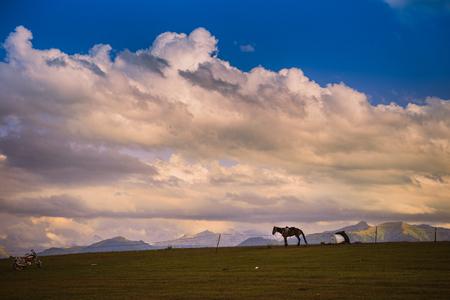 Xinjiang scenery Imagens