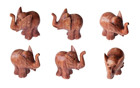wooden figures of the elephant photo