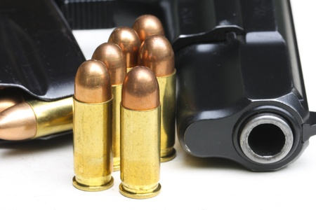 arsenal: pistol and cartridge