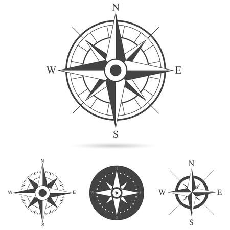 rosa dei venti: Raccolta di rosa dei venti di design - illustrazione vettoriale