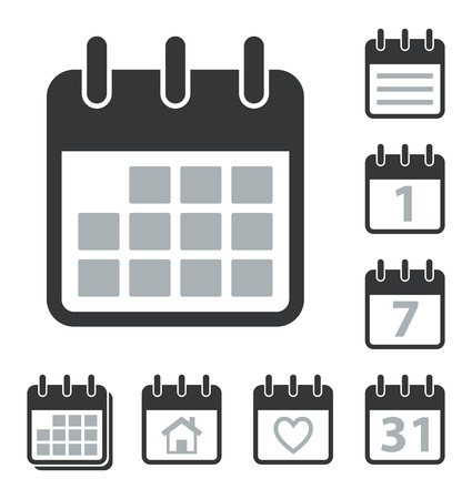 personal data assistant: Collection of Calendar icons