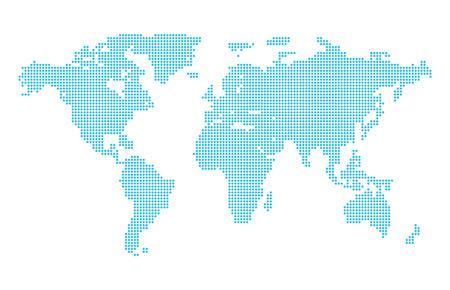 north america map: Abstract computer grafica punteggiato mappa del mondo. Illustrazione vettoriale.