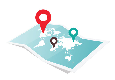 geographical locations: Map With Pin Pointer