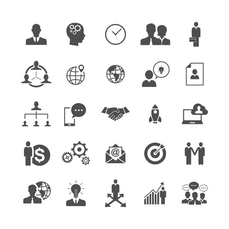 teamwork business: Business and Management Icons Illustration