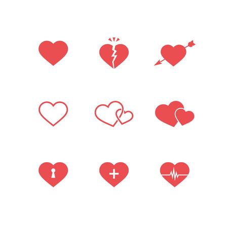 Set di simboli del cuore Archivio Fotografico - 34639290