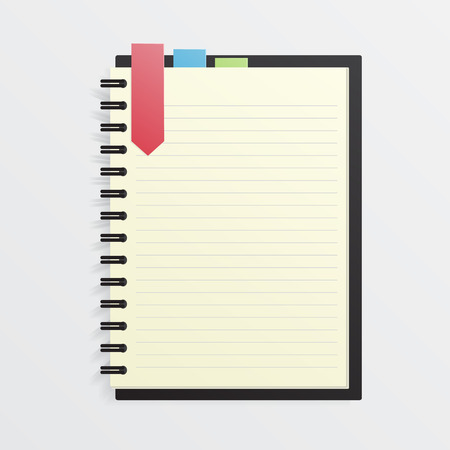 organizer: Blank Notebook with Bookmark Illustration