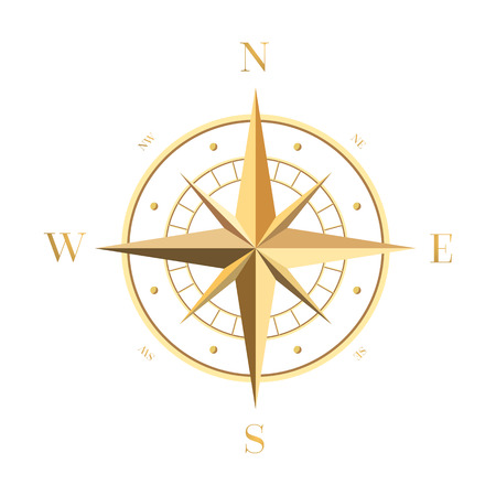 Gold Compass Rose 免版税图像 - 34993678