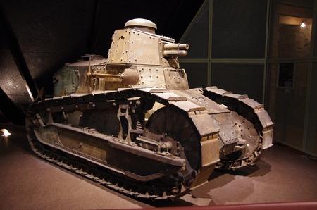 kansas: Tank display in museum