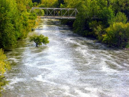 kansas: Fall River in Southeast Kansas in 2008 Stock Photo