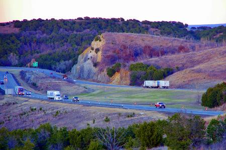 oklahoma: Interstate 35 through the Arbuckle Mountains Oklahoma