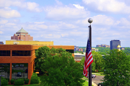 View from an office window in Overland Park Kansas