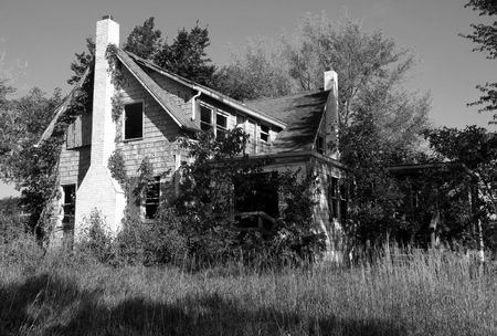 Picture of an abandoned farmhouse Editorial