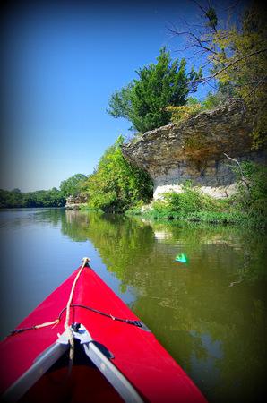 Kayaking on Lake Olathe Kansas