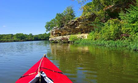 Paddling on a lake in Kansas Banco de Imagens