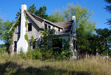 Abandoned farmhouse in the country Editorial