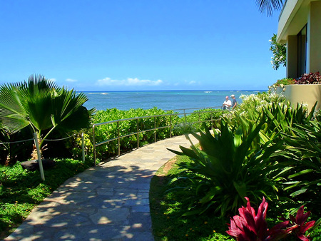 View accros the Pacific Ocean in Hawaii