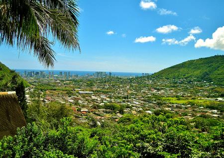 Birdseye view of Honolulu Hawaii Banco de Imagens