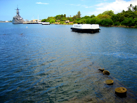 Pearl Harbor on Oahu in Hawaii