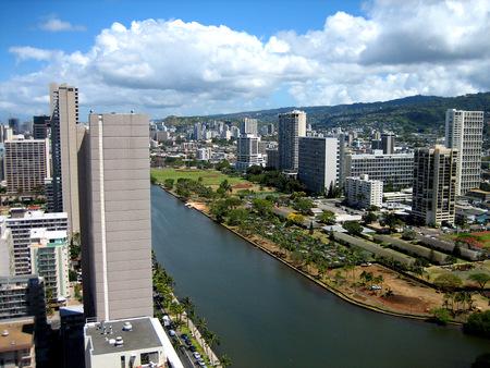 City view of Honolulu on Oahu Hawaii