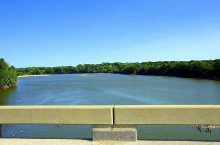 View of the Kaw River near De Soto Kansas