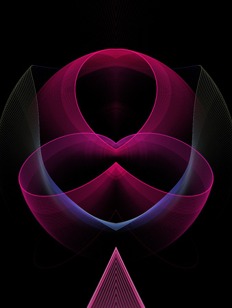 solicitude: Abstract  fractal   computer - generated  image ,  rendering,      illustration;     element, authenticity; spin, rotate,  glow,  wave;  frame; copy-space;