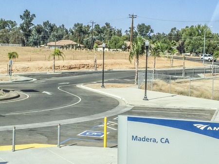 san joaquin valley: Madera train station, California central valley one of the world�s most productive farming regions, picture were taken riding the San Joaquin corridor via Amtrack train, California,USA.