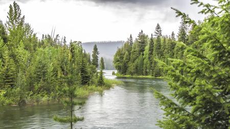 mcdonald: McDonald  Creek -Glacier Park - Tourist attraction -  Montana - USA